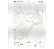 USGS Topo Map Oregon Sage Hen Butte 20110727 TM Poster