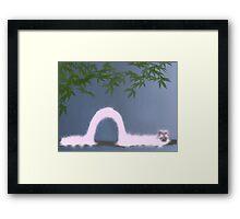 Scribbler - pink Caterpillar Framed Print