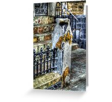 White Post Gold Rose - Blackpool Greeting Card