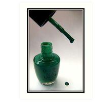 Green Nail Polish Art Print