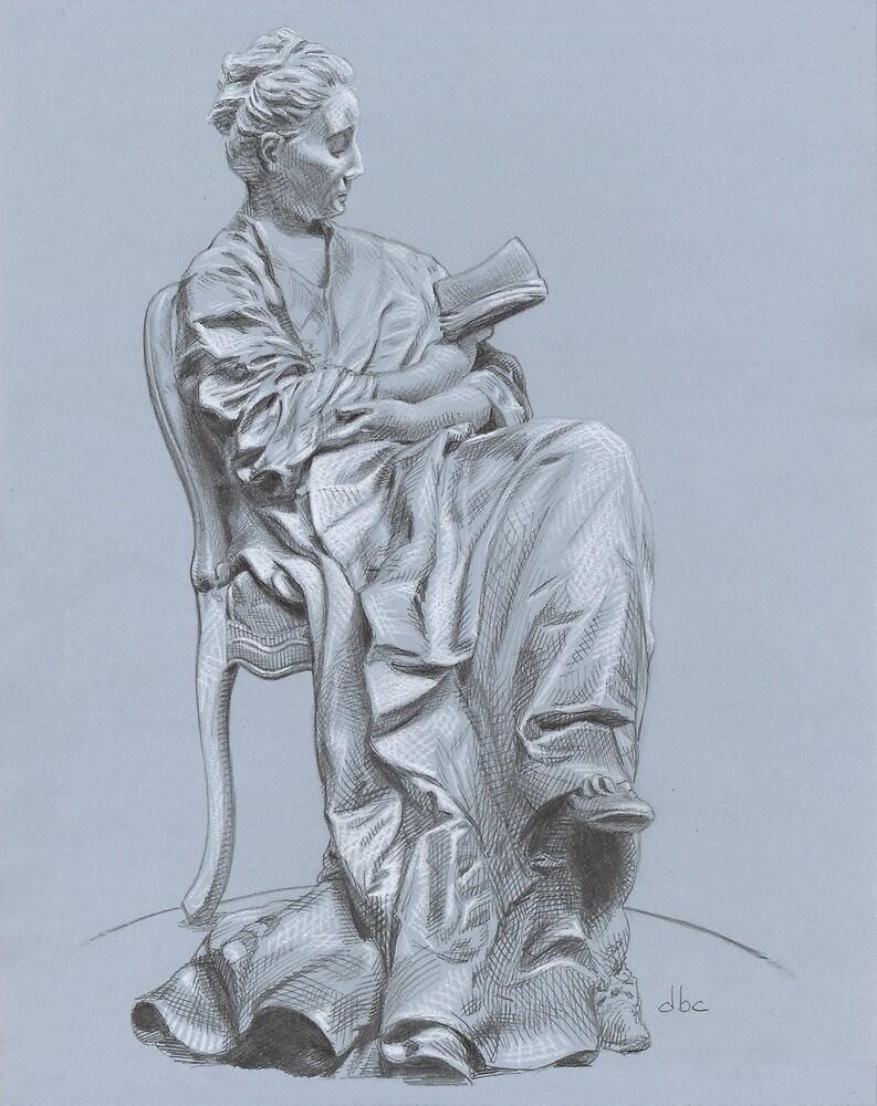 Woman Reading by dbclemons