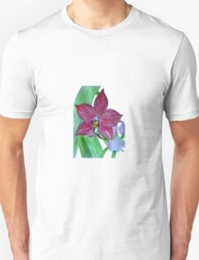 Terrestrial Pink Orchid Flower T-Shirt