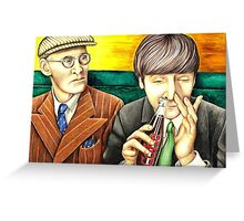 Wilfrid and John - scene from A Hard Day's Night 205 views Greeting Card