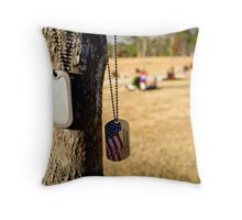in honor of an American hero Throw Pillow