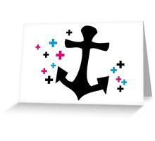 stylish anchor Greeting Card