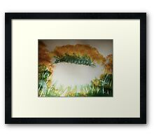 The First Snow, watercolor Framed Print