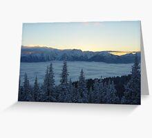 Winter Sunset at Hurricane Ridge Greeting Card