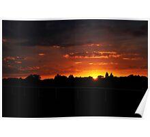 Sunset at Sandown Poster