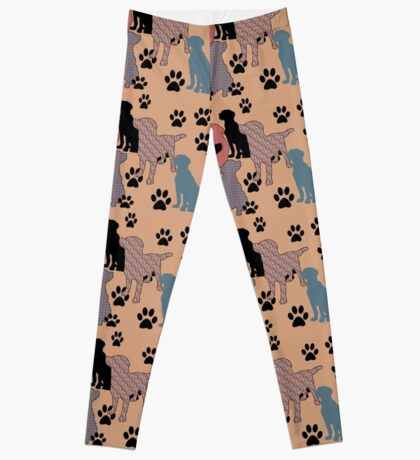 Floral silhouette leggings for lab lovers Leggings