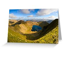 Red Tarn, Helvellyn. Cumbria. UK Greeting Card