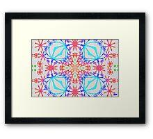 Neon Needlepoint 2 Framed Print
