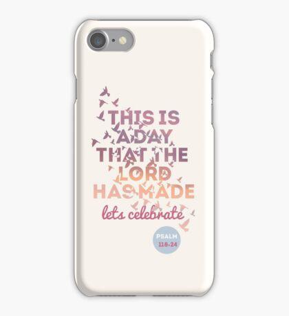 Bright Cream/ Purple/ Pink Bible Verse  iPhone Case/Skin