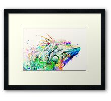 Watercolor reptile Framed Print