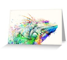 Watercolor reptile Greeting Card