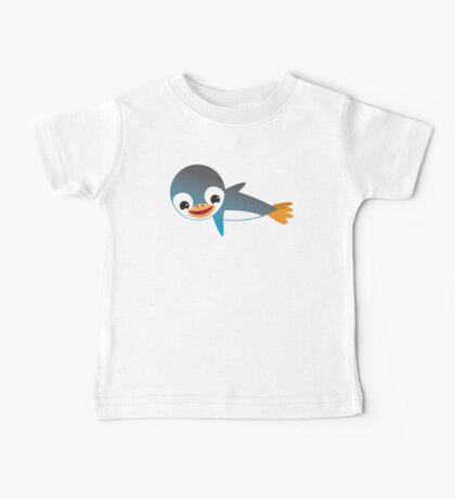 Blue emperor penguin flying cute Kawaii Baby Tee