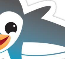 Blue emperor penguin flying cute Kawaii Sticker