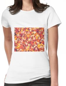 Scarlet Leaves  Womens Fitted T-Shirt