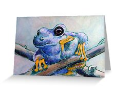 Frog Chillin Greeting Card