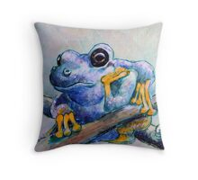 Frog Chillin Throw Pillow