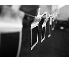 Ten Little Polaroids Hanging On the Line Photographic Print