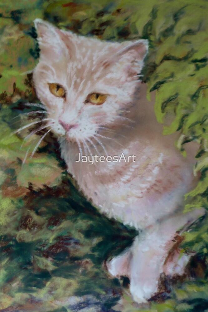 My little cream kitten grew up .....! by JayteesArt