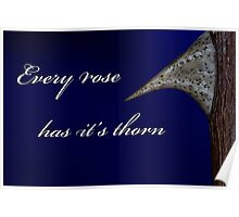 Every Rose Has It's Thorn Poster