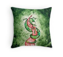 The Dragon and the Tower Throw Pillow