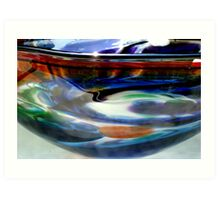 HANDBLOWN GLASS BOWL  ^ Art Print