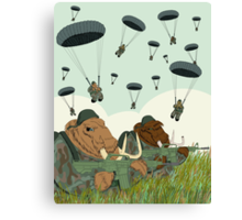 mammoth paratroopers Canvas Print