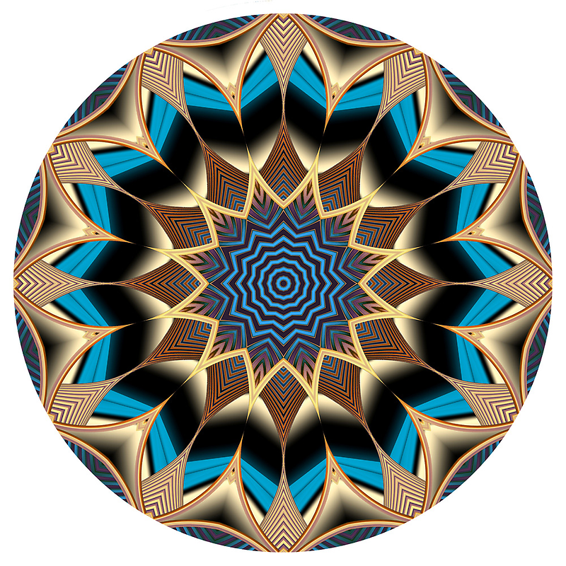 Spore Farm Mandala 2 by Pam Blackstone