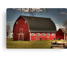 Old Red on the Prairies Canvas Print