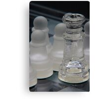 Chess Queen and Pawns Canvas Print