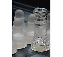 Chess Queen and Pawns Photographic Print