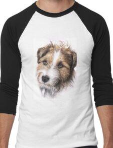Jack Russell Terrier Portrait Men's Baseball ¾ T-Shirt