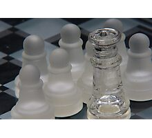 Chess Queen Surrounded by Pawns Photographic Print