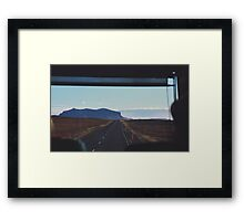 disappear in the horizon, into the memory of the sun Framed Print