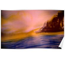dawn out at the point.... yellow tinge sky Poster