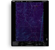 USGS Topo Map Oregon Pinhead Buttes 281102 1997 24000 Inverted Canvas Print
