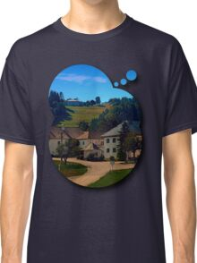 Small village in autumn scenery Classic T-Shirt