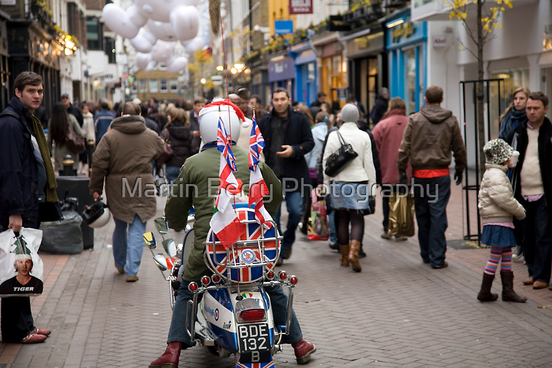 1960's scooter in Carnaby Street, London by martinberry