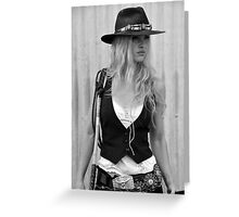 BAD GIRL Greeting Card