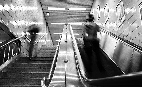 Escalator Self Portrait by cforsythe