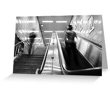 Escalator Self Portrait Greeting Card