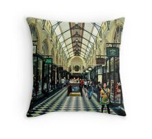 Royal Arcade, Melbourne Throw Pillow