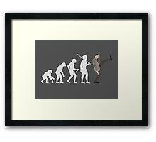 Evolution of Bean (White) Framed Print