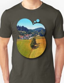 A village, some trees, and more boring scenery Unisex T-Shirt