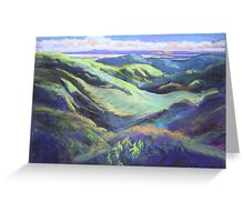 View from the Rooftop St Bernards Tamborine In Pastel  Greeting Card