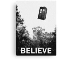 Believe - Police Box Canvas Print