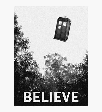 Believe - Police Box Photographic Print