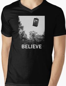 Believe - Police Box Mens V-Neck T-Shirt